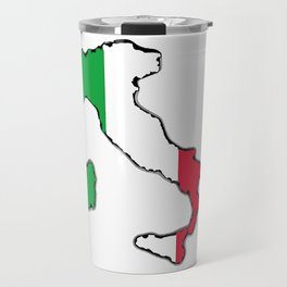 Italy Map with Italian Flag Travel Mug