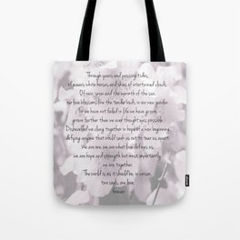 Through years and passing tides Tote Bag