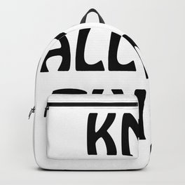 Knit All the Things in Black Backpack