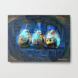 Three Pears Metal Print