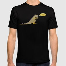 Not a very scary dinosaur Black MEDIUM Mens Fitted Tee