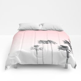 Tranquillity - pink sky Comforters