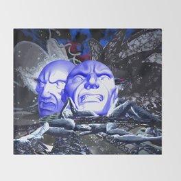 Maske des Bösen Throw Blanket