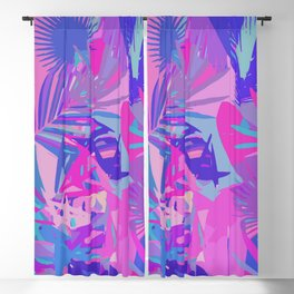 Tropical Leaves Abstract Blackout Curtain
