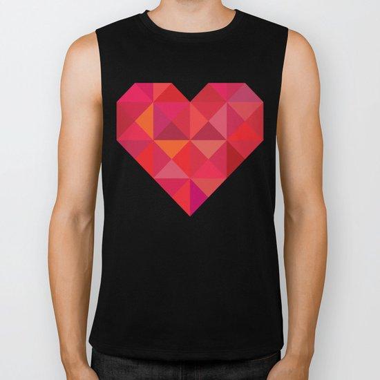 Heart geometry Biker Tank