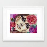 lana del rey Framed Art Prints featuring Lana Watercolor Painting Del Rey by noahsart