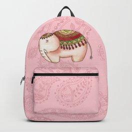 Elephants and paisley Backpack
