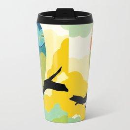Blue Tree Owl Travel Mug