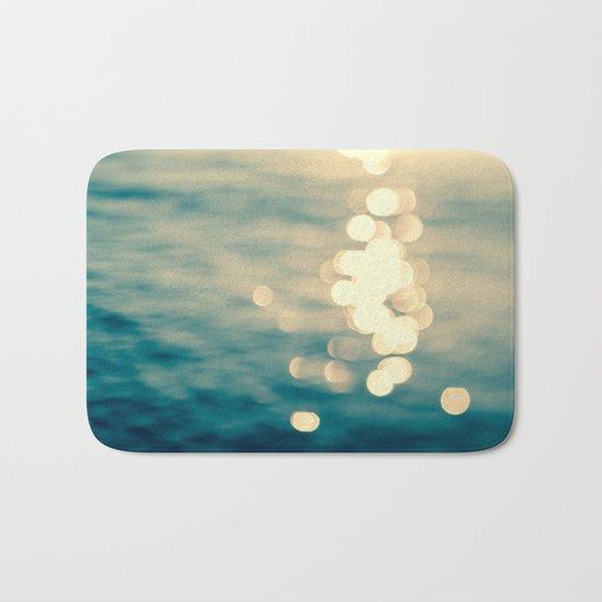 Blurred Tides Bath Mat