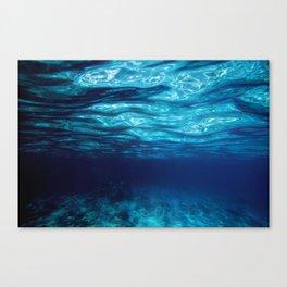 Blue Underwater Canvas Print