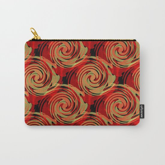 Abstracty pattern in red and brown tones. Carry-All Pouch