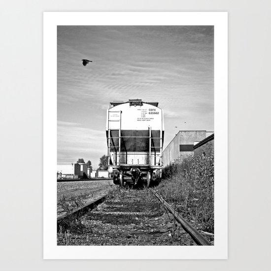 Urban train car Art Print