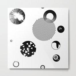 Circles ((O)) Metal Print
