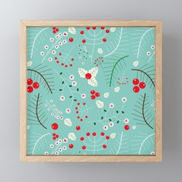 Mistletoe Acqua Framed Mini Art Print