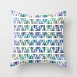 Geometric Glossy Pattern G331 Throw Pillow