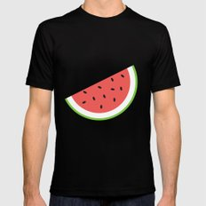 #11 Watermelon MEDIUM Mens Fitted Tee Black
