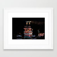 donald duck Framed Art Prints featuring Donald Duck and Friends! by Kieren Wulf
