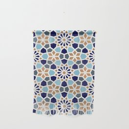 Persian Mosaic – Blue & Gold Palette Wall Hanging