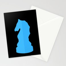 Blue Chess Piece - Knight Stationery Cards