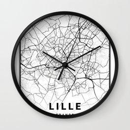Lille Light City Map Wall Clock