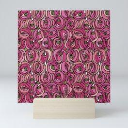 "Charles Rennie Mackintosh ""Roses and teardrops"" edited 2. Mini Art Print"