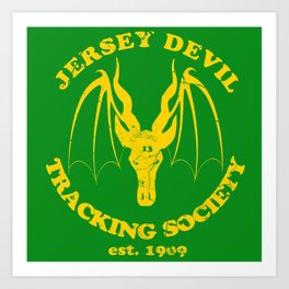 Jersey Devil Tracking Society Art Print