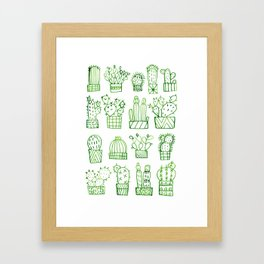 Cacti Collection Framed Art Print