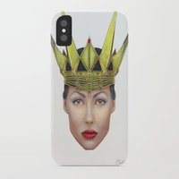 evil queen iPhone & iPod Cases featuring Evil Queen by Christina Quackenbush