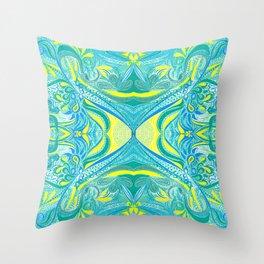Ocean Lemon 3 Symmetrical design Throw Pillow