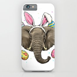 Easter Bunny Elephant Shirt Funny Easter Elephant Gifts T-Shirt iPhone Case