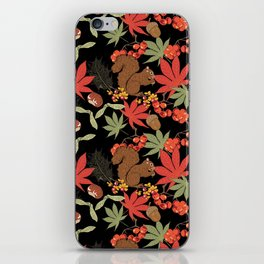 Autumn squirrel iPhone Skin