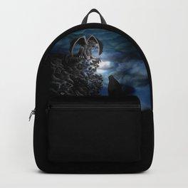 Wolfmoon , Wolf with Golem Backpack
