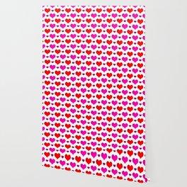 Love Hearts Pattern Wallpaper