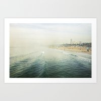 santa monica Art Prints featuring Santa Monica  by Bree Madden
