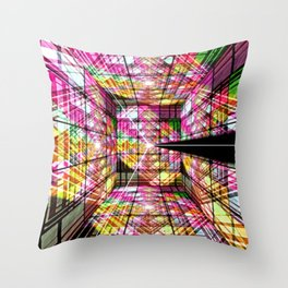 Cubist dimensions. Throw Pillow
