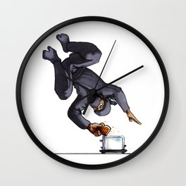 Ninja Making Toast Wall Clock