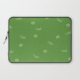 Cancer Pattern - Green Laptop Sleeve
