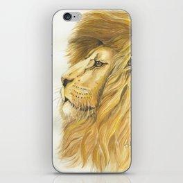 Lion head in Watercolor iPhone Skin