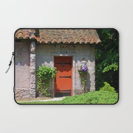 Lourdes University-  Portiuncula  Chapel Door with Clematis Laptop Sleeve