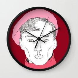 Béret rose Wall Clock