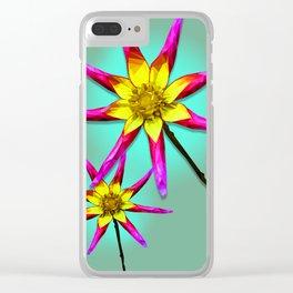 Bracken Astra Dahlia Clear iPhone Case