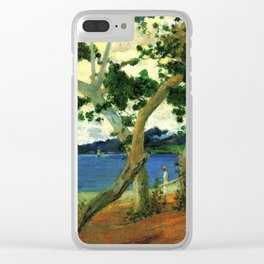 "Paul Gauguin - By the Seashore, Martinique ""Bord de mer I"" (1887) Clear iPhone Case"