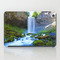 waterfall iPad Cases featuring Waterfall by 2sweet4words Designs