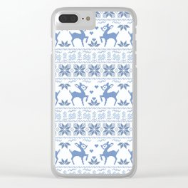Christmas pattern. Cross-stitch. 2 Clear iPhone Case