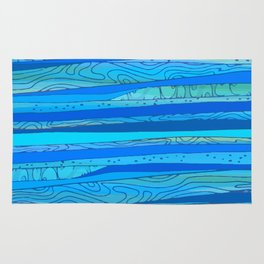 light Blue abstract pattern Rug