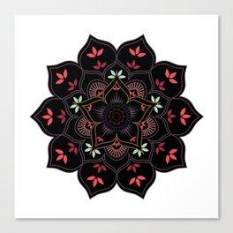 Lotus flower mandala in soft pastel colors Canvas Print
