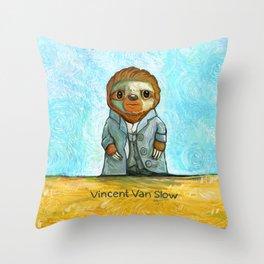 Vincent Van Slow Throw Pillow