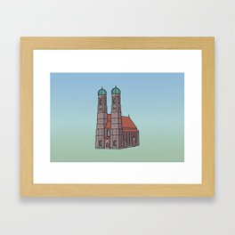 Munich Frauenkirche Framed Art Print