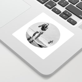 The Surfing Photographer Sticker