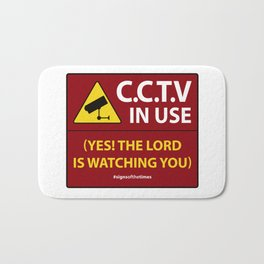 CCTV: The LORD is Watching You! - Christian Design Bath Mat